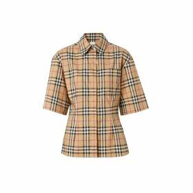 Burberry Short-sleeve Vintage Check Stretch Cotton Shirt