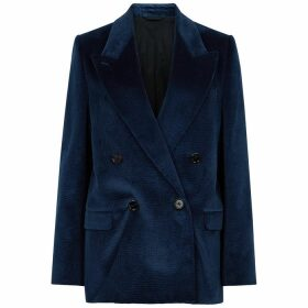 Acne Studios Janny Navy Double-breasted Corduroy Blazer