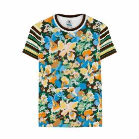 M Missoni Floral-print Panelled T-shirt