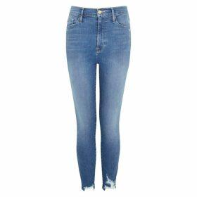 Frame Denim Ali Blue Distressed Skinny Jeans