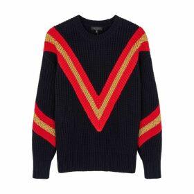 Rag & Bone Leon Stripe-intarsia Chunky-knit Jumper