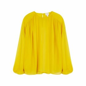 Giambattista Valli Yellow Silk-chiffon Blouse