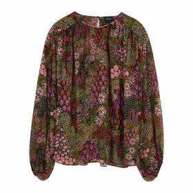 Giambattista Valli Floral-print Silk-chiffon Shirt