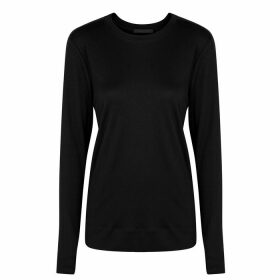 Helmut Lang Black Cut-out Jersey Top