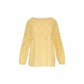 Gerard Darel Cotton Blouse With English Lace