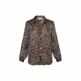 Gerard Darel Loose-fitting Floral Print Shirt