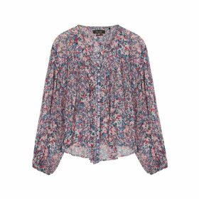 Isabel Marant Orionea Floral-print Silk-georgette Blouse