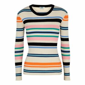 Kenzo Striped Ribbed-knit Cotton-blend Jumper