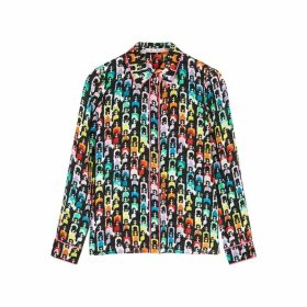 Alice + Olivia Willa Printed Silk-chiffon Blouse