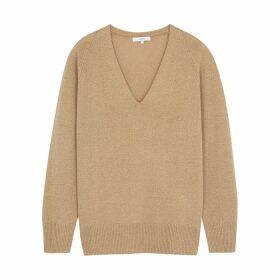 Vince Camel V-neck Wool-blend Jumper