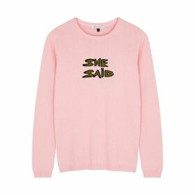 Bella Freud She Said Pink Cotton-blend Jumper