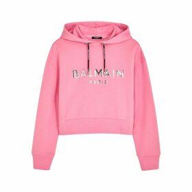 Balmain Pink Logo Cotton-jersey Sweatshirt