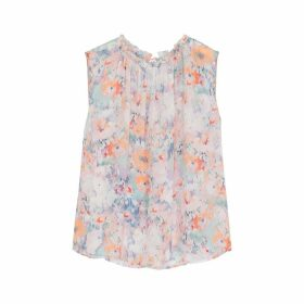 Velvet By Graham & Spencer Ellis Printed Chiffon Top