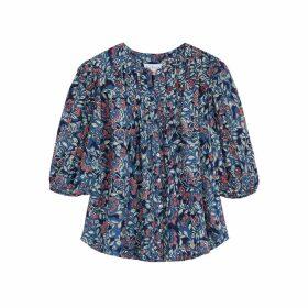 Velvet By Graham & Spencer Jude Floral-print Cotton-blend Blouse