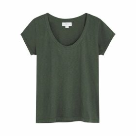Velvet By Graham & Spencer Katie Charcoal Cotton T-shirt