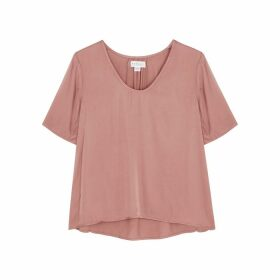 Velvet By Graham & Spencer Tita Rose Satin Top