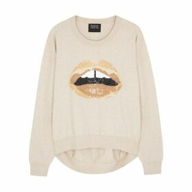 Markus Lupfer Joey Sequinned Cotton Jumper