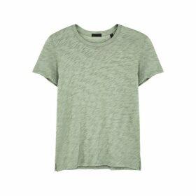 ATM Anthony Thomas Melillo Schoolboy Green Slubbed Cotton T-shirt