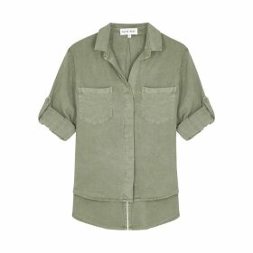 Moncler Girocollo Pink Tie-dyed Cotton Jumper