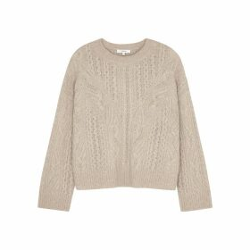 Vince Taupe Cable-knit Jumper