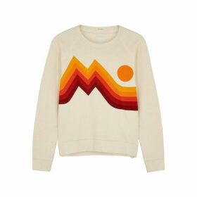 Mother The Square Printed Cotton Sweatshirt