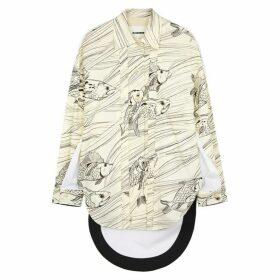 Jil Sander Malakai Printed Cotton-blend Blouse