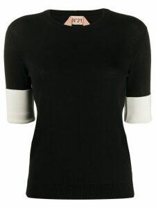 Nº21 knitted short-sleeve shirt - Black