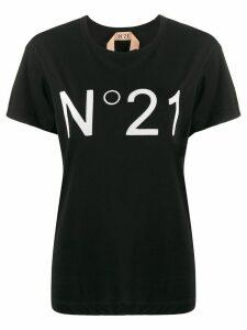 Nº21 logo print T-shirt - Black