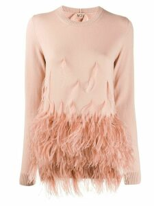 Nº21 feather hem jumper - PINK