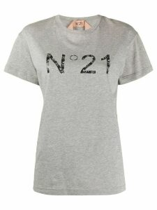 Nº21 logo print T-shirt - Grey