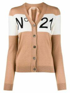 Nº21 intarsia knit cardigan - NEUTRALS