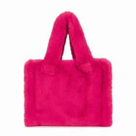 Stand Studio Liz Hot Pink Faux Fur Tote