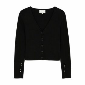 3.1 Phillip Lim Black Ribbed Wool-blend Cardigan