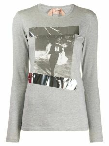 Nº21 graphic print T-shirt - Grey