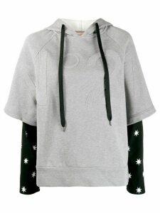 Nº21 layered effect hooded sweatshirt - Grey