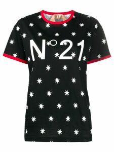 Nº21 star print logo T-shirt - Black