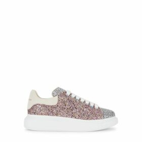 Alexander McQueen Larry Glittered Leather Sneakers