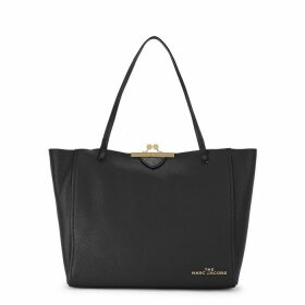 Marc Jacobs The Kiss Lock Black Leather Tote