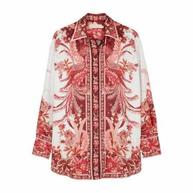 Zimmermann Wavelength Placement Printed Silk Shirt