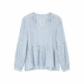 Rails Raylyn Striped Linen-blend Blouse