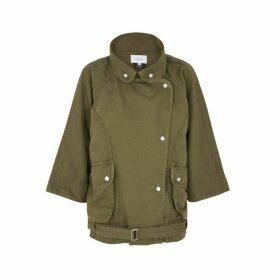 Current/Elliott Reny Infantry Army Green Twill Jacket