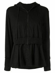 Yohji Yamamoto layered sweat shirt - Black