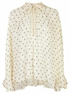 Adam Lippes bow neck shirt - NEUTRALS