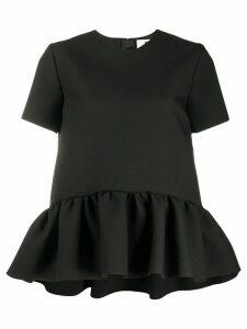 MSGM boxy peplum blouse - Black