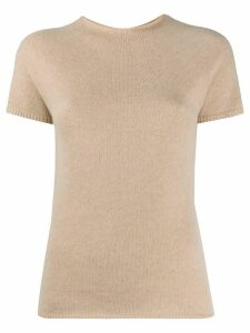 Max Mara crew neck knit T-shirt - NEUTRALS