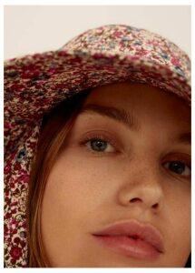 Cotton flowers hat
