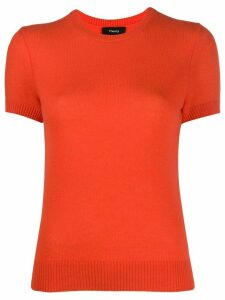 Theory short sleeve fine knit top - ORANGE