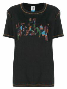 M Missoni brushstroke logo T-shirt - Black