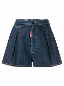 Dsquared2 pleated denim shorts - Blue