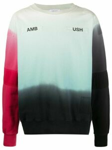 AMBUSH patchwork logo sweatshirt - Green